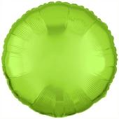 "Runder Luftballon aus Folie, Limonengrün, 18"""