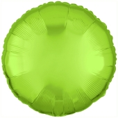 Rundluftballon Limonengrün, 45 cm mit Ballongas Helium