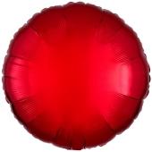 Roter Rundluftballon aus Folie, 45 cm, 18 inch