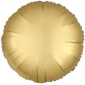 Rundluftballon Gold, Satin Luxe, Matt, 45 cm mit Ballongas Helium