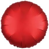 "Runder Luftballon aus Folie, Sangria Rot, Satin Luxe, 18"""