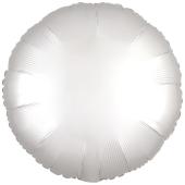 Rundluftballon Weiß, Satin Luxe, Matt, 45 cm mit Ballongas Helium