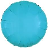Rundluftballon Türkis, 45 cm mit Ballongas Helium