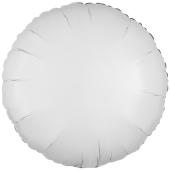 """Rundluftballon aus Folie, Weiß, 18"""""""