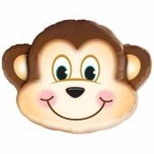 Schelmischer Affe Luftballon aus Folie mit Helium