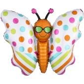 Schmetterling, Folienballon mit Ballongas-Helium