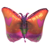 Schmetterling, Luftballon aus Folie inklusive Helium