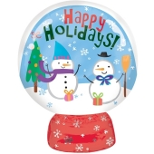 Schneekugel, Folienballon zu Weihnachte und Nikolaus, inklusive Helium