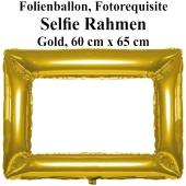 Aufblasbarer Selfie-Rahmen in Gold, Folienballon, Fotorahmen