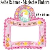 Magisches Einhorn, aufblasbarer Selfie-Rahmen, Folienballon, Fotorahmen