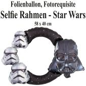 Star Wars, aufblasbarer Selfie-Rahmen, Folienballon, Fotorahmen