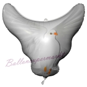 Folienballon Hochzeitstaube zur Hochzeit, inklusive Helium
