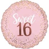 Folienballon Jumbo Sixteen Blush, ohne Helium zum 16. Geburtstag