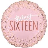 Folienballon Sixteen Blush zum 16. Geburtstag, ohne Helium