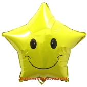 Folienballon Smiley Stern inklusive Helium