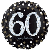 Folienballon Sparkling Celebration 60 Jumbo, ohne Helium zum 60. Geburtstag