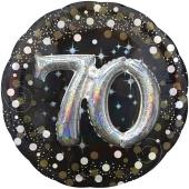 Folienballon Sparkling Celebration 70, ohne Helium zum 70. Geburtstag