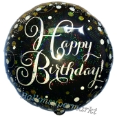Geburtstags-Luftballon Sparkling Celebration Birthday, ohne Helium-Ballongas