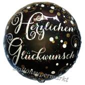Geburtstags-Luftballon Sparkling Celebration Herzlichen Glückwunsch, ohne Helium-Ballongas