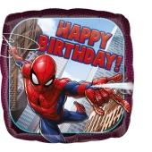 Spider-Man, Happy Birthday, Luftballon aus Folie inklusive Helium