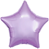 Sternballon aus Folie, Flieder, 45 cm, Folienballon mit Ballongas Helium