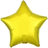 Sternballon aus Folie, Gelb, 45 cm, Folienballon mit Ballongas Helium