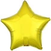 "Sternballon aus Folie, Gelb, 18"""