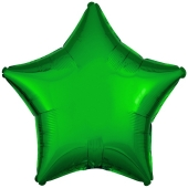 Sternballon aus Folie, Grün, 45 cm, inklusive Ballongas Helium