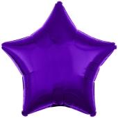 Sternballon, Lila, Luftballon Stern, Ballonstern, Ballon in Sternform mit Ballongas Helium