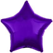 "Sternballon aus Folie, 18"", Lila"