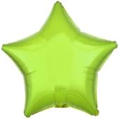 Sternballon aus Folie, Limonengrün, 45 cm, inklusive Ballongas Helium
