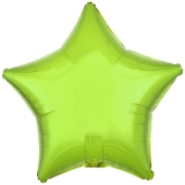 "Sternballon aus Folie, Limonengrün, 18"""