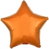 Sternballon aus Folie, Orange, 45 cm, Folienballon mit Ballongas Helium