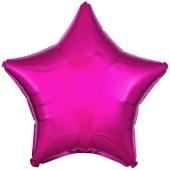Sternballon aus Folie, Pink, 45 cm, Folienballon mit Ballongas Helium