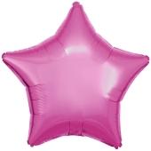 Sternballon aus Folie, Rosa, 45 cm, Folienballon mit Ballongas Helium