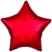 Sternballon aus Folie, 45 cm, rot, Folienballon mit Helium-Ballongas