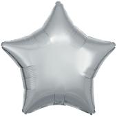 Sternballon aus Folie, Silber, 45 cm, inklusive Ballongas Helium