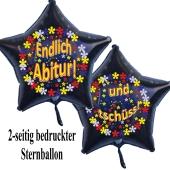 Endlich Abitur! Und tschüss! Schwarzer Sternluftballon aus Folie
