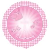 Luftballon Christening Booties, Rosa zur Taufe inklusive Helium