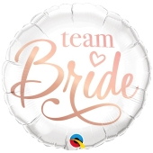 Team Bride, Luftballon aus Folie mit Ballongas Helium zu Hen Night, Hen Party und JGA