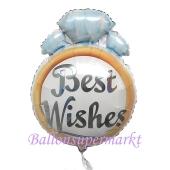 Trauring Best Wishes, Luftballon aus Folie zur Hochzeit