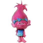 Trolls, Poppy, Luftballon aus Folie mit Helium