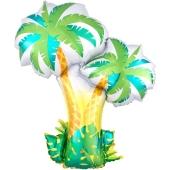 Tropische Palmen, Luftballon aus Folie mit Ballongas-Helium