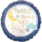 Twinkle Little Star Luftballon mit Helium zu Babyparty, Geburt und Taufe