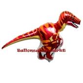 Dinosaurier, Velociraptor, Luftballon aus Folie mit Helium