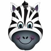 Verrücktes Zebra Luftballon aus Folie mit Helium