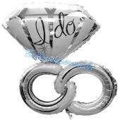 Luftballon Wedding Rings zur Hochzeit, inklusive Helium