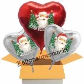 3 Luftballons zu Weihnachten, Frohe Weihnachten Weihnachtsmänner