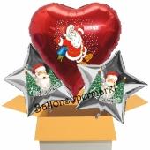 3 Luftballons zu Weihnachten, Weihnachtsmänner, Frohe Weihnachten