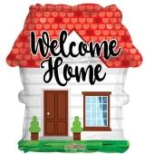 Welcome Home Haus, Luftballon aus Folie ohne Helium-Ballongas